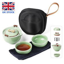 More details for portable travel ceramic teapot set chinese kung fu porcelain tea set  w/ infuser