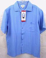 Hudson River Men's Short Sleeve Button Down Shirt Blue Pocket Size Medium