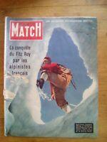 PARIS MATCH N°164 1952 CONQUETE DU FITZ ROY - TRAGEDIE DE MENTON