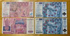 1000 Euro und 600 Euro Schein - Scherzartikel