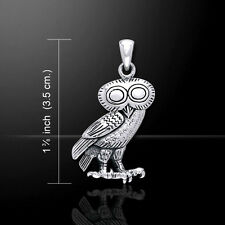 Greek Owl Athena .925 Sterling Silver Pendant by Peter Stone