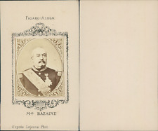 Maréchal Bazaine CDV vintage albumen. figaro album Tirage albuminé  6,5x10,5