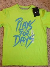 NWT Boys Nike Plays For Days Swoosh Logo Graphic Tee T Shirt Top $18 S, New!