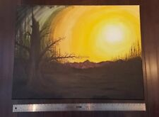 Original Painting Ghost Tree Sunrise Alaska Acrylic Canvas 36-Inches x 18-Inches