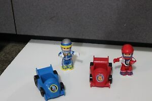 Fisher Price Little Tikes Step 2? Little People Race Car Figures cars #3 #5 lot