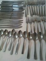 LOT Of 45 MIXED Oneida, Walco, Walace STAINLESS FLATWARE SPOON, FORKS, KNIVES