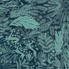 """AMY BUTLER """"BRIGHT HEART"""" OH DEER Navy by yard"""