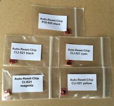 1 juego de auto Reset chips canon pgi520 521 mp550 mp560