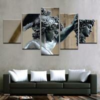 Perseus - Medusa Slayer Statue 5 panel canvas Wall Art Home Decor Poster Print