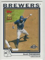 2004 Topps Baseball Milwaukee Brewers With Traded Team Set