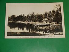 ZU808 Vintage RPPC Pine Beach North Channel French River Rutter Ontario Canada