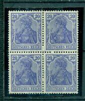 Deutsches Reich, Germania Nr. 87 II Vierereinheit postfrisch **