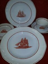 Wedgwood Flying Cloud Rust 5 piece place setting  DINNER, SALAD, BREAD, CUP, SAU