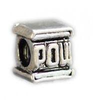 LOOK Super Mario Pow Block Sterling silver .925 jewelry bead