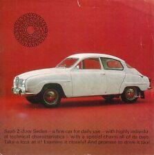 Saab 96 2-Stroke Saloon 1965-66 UK Market Single Sheet Sales Brochure