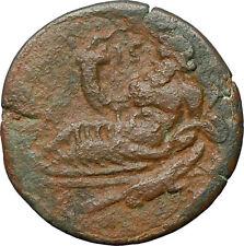 ANTONINUS PIUS 149AD Alexandria Egypt Nilus Crocodile Ancient Roman Coin i26102