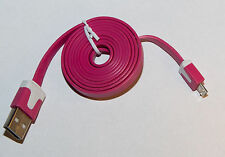 Micro USB Cable Cavo Flat SLIM 1m PDA cellulare Cell Phone HTC Nokia Samsung LG