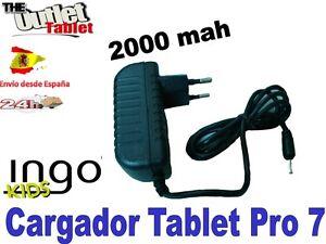 "CARGADOR DE PARED PARA TABLET INGO Tablet Pro 7"" Ingo Kids infantil"