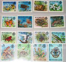 SEYCHELLES SEYCHELLEN 1977 394-09 I Turtles Fish Birds Fauna Fische Vögel MNH
