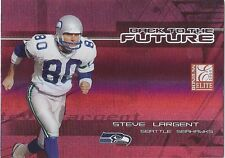 Steve Largent Seahawks 2005 Elite Back To The Future Red /250
