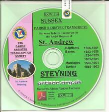 Steyning Parish Registers 1565 - 1902