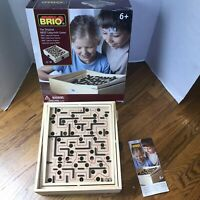 Vintage Brio Sweden Labyrinth Wooden Tilting Maze Game EUC 34000 Complete
