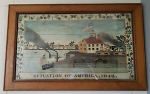 "SITUATION OF AMERICA , 1848  34 3/4"" X 22 3/8"" Framed Print"