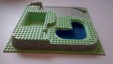 Lego ™ Poolside Paradise 32x32 3D & 3 niveau Stone rampe Bleu Piscine Motif 6092px2