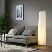 "New IKEA VICKLEBY White Floor Lamp Handmade 136cm 54 "" - Rice Paper Decorative"