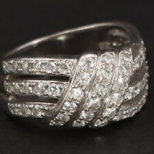 Zirconia Highway Ring Size 9 - 6.5g Sterling Silver - Ross Simons Cz Cubic