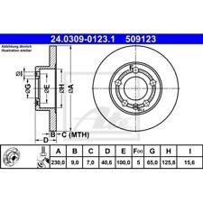 SATZ 2x ATE Power Disc AUDI A1 (8X1 8XF)  AUDI A1 Sportback (8XA 8XK)  AUDI A2