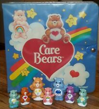 Vintage Plastic Care Bears Carrying Case by KENNER + 7 Bears Pencil CAke Toppers