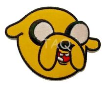 ADVENTURE TIME JAKE  Embroidered Iron-On Patch DOG HEAD  - UK Seller,
