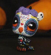 Littlest Pet Shop Halloween candy skull OOAK Custom figure LPS Day of the Dead