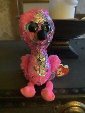 Pink Glitter ty Flamingo Soft Toy