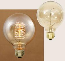 Country/Farmhouse/Primitive 40 Watt Balloon Vintage Style Bulb & Spiral Filament