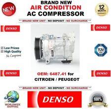 DENSO AIR CONDITION AC COMPRESSOR OEM 6487.41 for CITROEN PEUGEOT BRAND NEW UNIT
