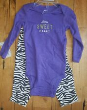 NWT Baby Girl CARTERS Long Sleeve Bodysuit Pants Zebra Outfit Size 9M