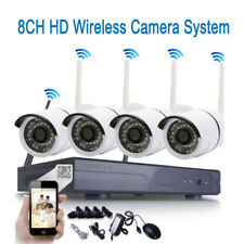 Wireless 8CH NVR Outdoor WIFI HD 720P Night Vision Camera Home Security System