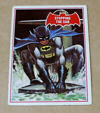 SCANLENS 1966 BATMAN RED SHIELD TRADING CARD 39A STOPPING THE SUB