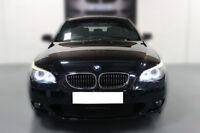 FOR BMW 5 SERIES E60 E61 PRE-LCI ANGEL EYE HALO RING LIGHT LED BULBS PURE WHITE