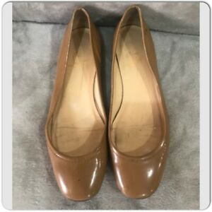 Christian Louboutin Nude Patent Leather trimmed flats Size 38