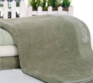 1 Pure Color Bamboo Fiber Natural Organic Bathroom Beach Pool Hand Towel 72*33cm