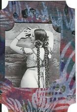 ACEO ATC Art Card Collage Original Resale Resell Woman Ladies Long Hair Braids