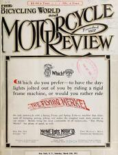 BICYCLING WORLD MOTORCYCLE REVIEW MAGAZINE 600 weekly issues 1900-1915 antique 1