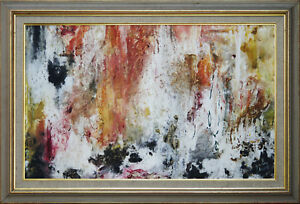 JOAN DENT (1916-2002) RARE Oil Monsoon 1965 Australian Abstract Expressionist