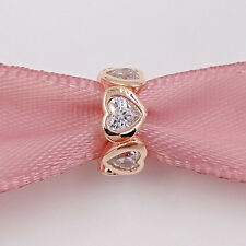 Genuine Rose Gold Charm Distanziatore S 925 (+ astuccio)