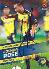 ✺Signed✺ 2013 2014 CENTRAL COAST MARINERS A-League Card JOSHUA ROSE
