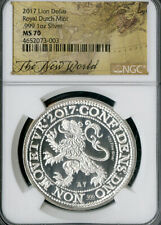 Dutch Coin 2017 Silver Lion Dollar NGC MS70 NO RESERVE!