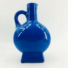"Antique Stoneware Pottery Blue Glazed Prohibition Liquor Jug Bottle 8"" Tall"
